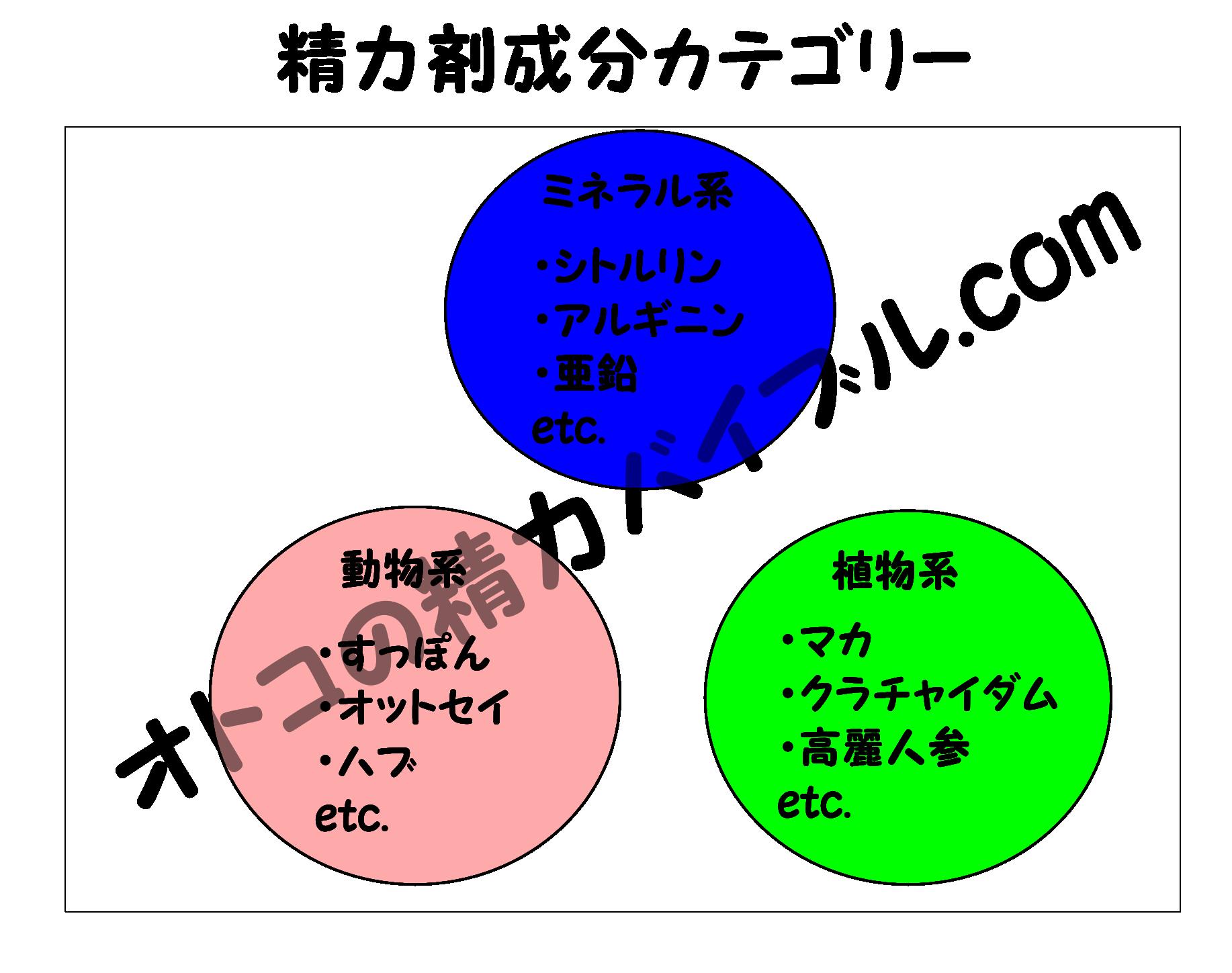 精力剤,成分,成分表,オトコの精力バイブル